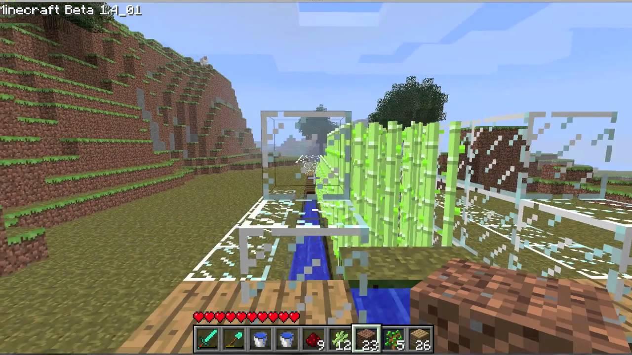 minecraft sugar cane farm/ fazenda de cana de açúcar (ep ...