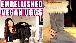DIY How To Decorate A Plain Ugg Into A Designer Looking