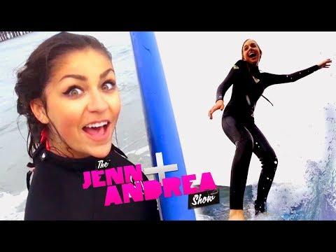Andrea & Jenn SURF!!