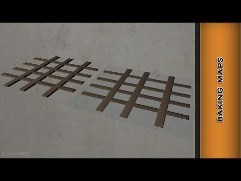 Autodesk Maya 2014 Tutorial - Baking Normal and Transparency Maps within Maya