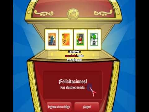 codigo de card jitsu clubpenguin - YouTube