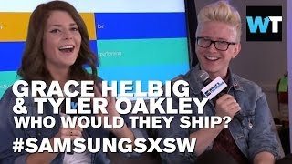Grace Helbig and Tyler Oakley: Who Would They Ship? | #SamsungSXSW
