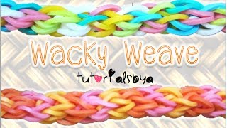 NEW Wacky Weave Rainbow Loom Bracelet Tutorial How To