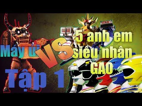 5 Anh Em Siêu Nhân GAO: Đánh Nhau Quái Vật Máy Ủi|Super Sentai Gaming|tro choi dien tu