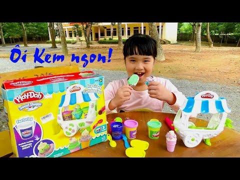 Đồ chơi trẻ em mở hộp đất nặn làm kem by Giai tri cho Be yeu