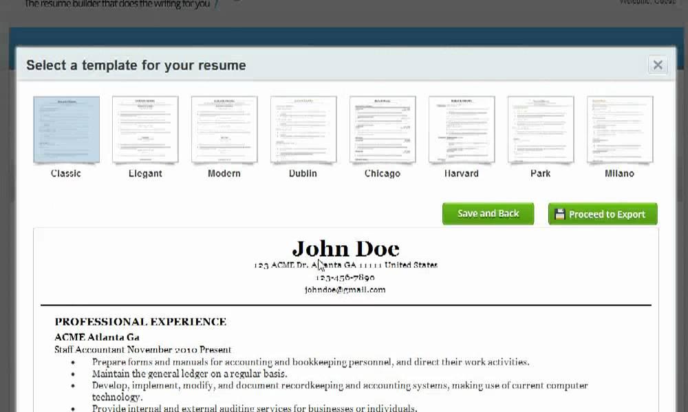 resume format resume builder legit