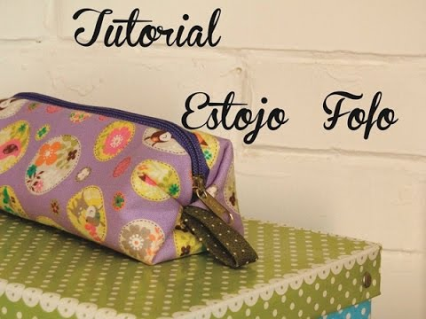 Tutorial de Costura- Estojo Fofo !
