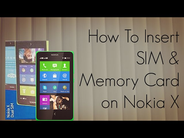 Nokia X - How To Insert SIM & Memory Card Tutorial