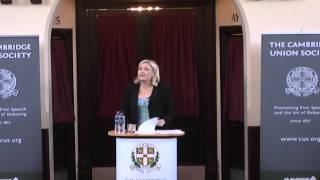 Marine Le Pen at the Cambridge Union Society