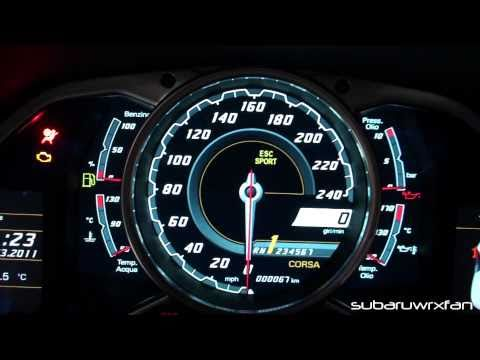 Exclusive! Aventador Interior Features! Gauges, Engine Start Button and Open Doors!