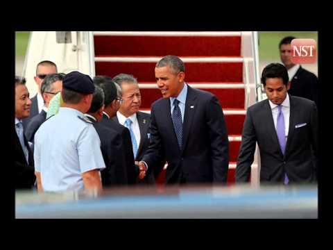 US President Barack Obama arrives  in Malaysia for historic visit