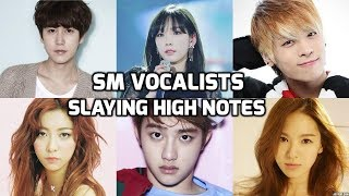 SM Entertainment Vocalists Slaying High Notes! Part 1| SM 엔터테인먼트 가수 : 고음모음