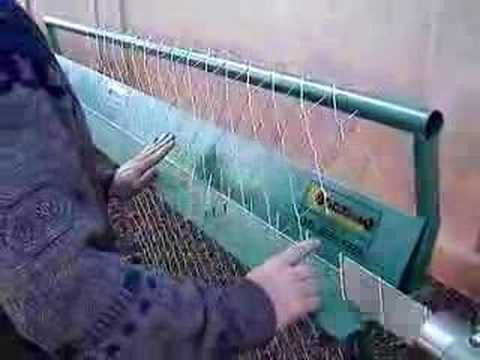 Máquina para fabricar telas alambrados - Caracol fabricação