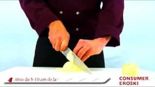 Como cortar verduras