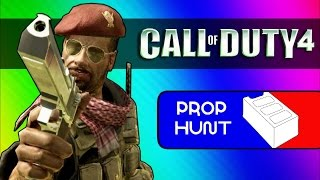Call of Duty 4: Prop Hunt Funny Moments – Cinder Block Family, Seananners' Hack (COD4 Mod)