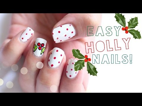 EASY Holly Nails