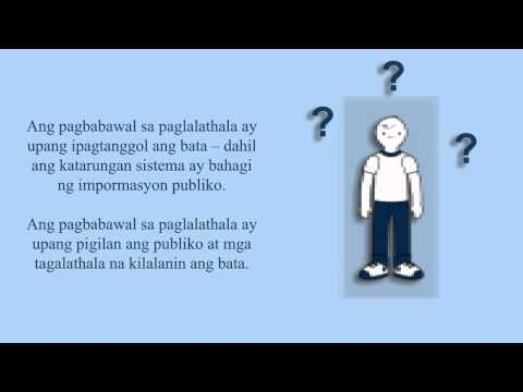 Youth Criminal Justice: Post Sentencing (Tagalog)