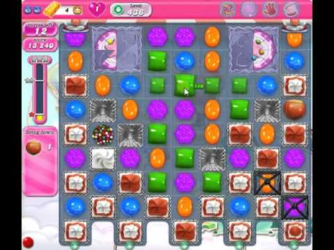 How to beat Candy Crush Saga Level 436 - 3 Stars - No Boosters - 423