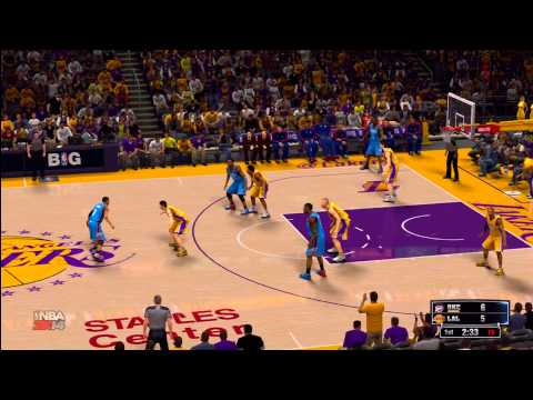 NBA 2K14: LA Lakers vs. OKC Thunder HD Gameplay ft. Kobe Bryant, Kevin Durant, Russell Westbrook