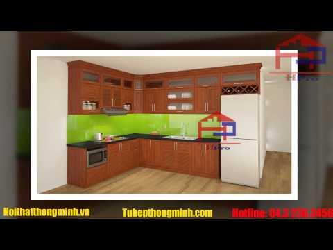 Những Mẫu Tủ Bếp Gỗ Xoan Đào Đẹp Nhất  2015 - Nội Thất Hpro