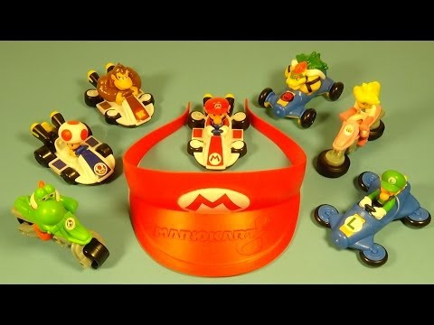 2014 NINTENDO'S MARIO KART 8 SET OF 8 McDONALD'S HAPPY MEAL KID'S TOY'S VIDEO REVIEW