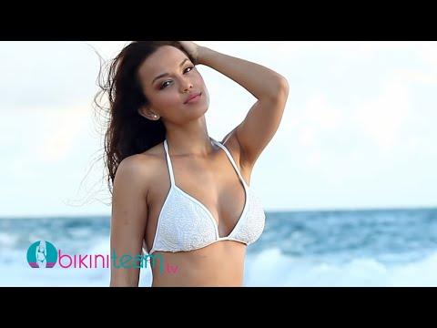 Raquel Gibson Hot Busty Body in Sexy White Bikini