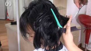 Girl With Long Hair Cut To Short