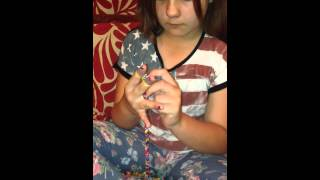 Loom Band Dress Video 14 Abi Looming With Her Hands