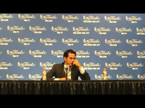 Heat coach Erik Spoelstra speaks after NBA Finals Game 2 win
