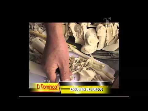 Escultor de huesos: artista cusqueño realiza sus trabajos con huesos de animales