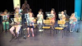 Eind concert leerjaar 1 Fanfare Hout Blerick
