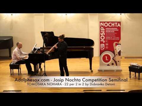 Adolphesax com Josip Nochta TOMOTAKA NOHARA 22 per 2 in 2 by Dubravko Detoni