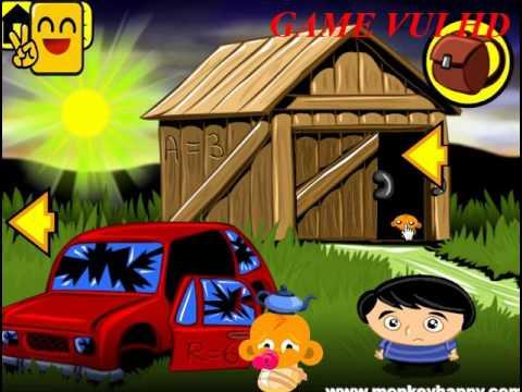 Game chú khỉ buồn 8   game for children   em bi chơi game