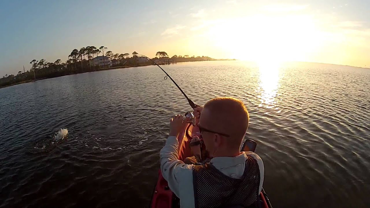 Kayak fishing florida panhandle grass flats youtube for Kayak fishing florida