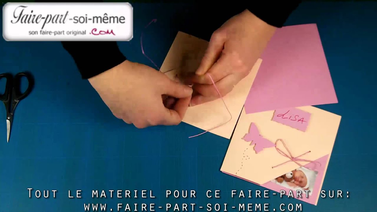 Faire part de naissance lisa faire soi m me youtube - Faire son electricite soi meme ...