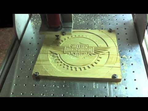 Mecanizado de escudo harley davidson en mi fresadora casera. Homemade router cnc