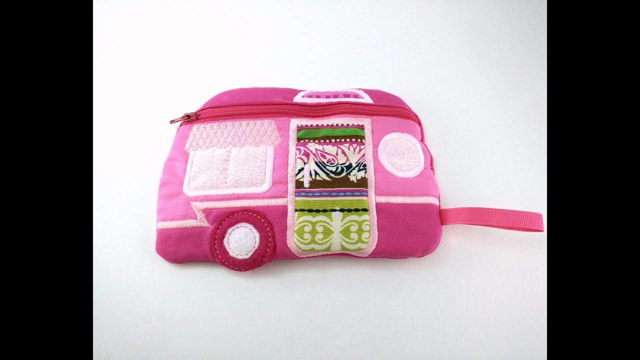 In the hoop camper bag tutorial ith machine embroidery