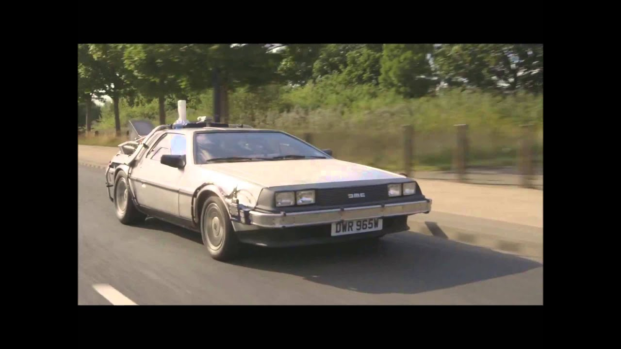 Cruising in my Delorean Time Machine in Manchester UK - YouTube