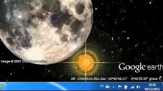 Risco Azul Do Lado Da Lua Google Sky Dois Sóis Nibiru