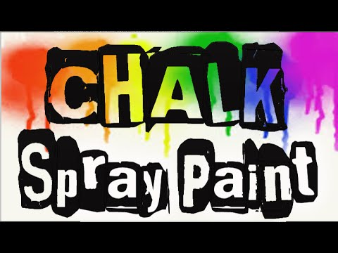 How to make Chalk Spray Paint.