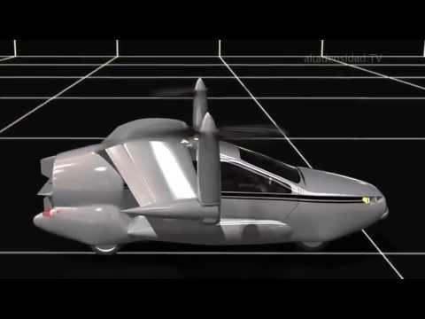 Auto volador híbrido del futuro
