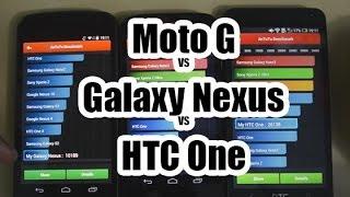Comparativa Moto G VS Galaxy Nexus VS HTC One
