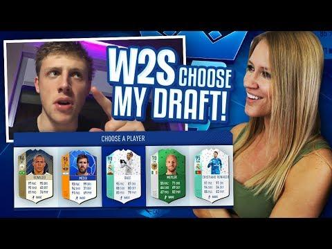 WROETOSHAW CHOOSES MY FUT DRAFT! FIFA 18 ULTIMATE TEAM!