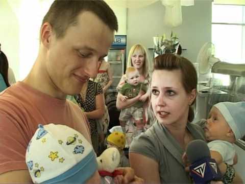 Смотреть видео В Вентспилсской больнице слет малышей