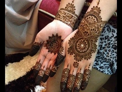 easy and cute henna design for beginners step by step