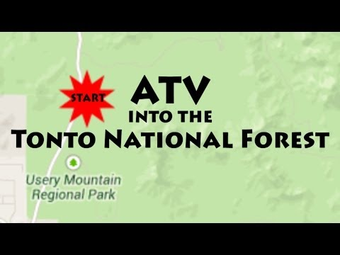ATV into the Tonto National Forest, Arizona