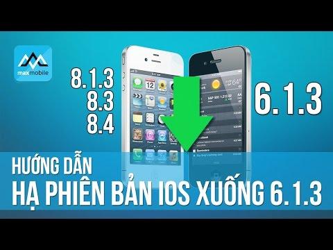 Hướng dẫn hạ iOS 8.4 xuống iOS 6.1.3 - iPhone của ngày hôm qua!