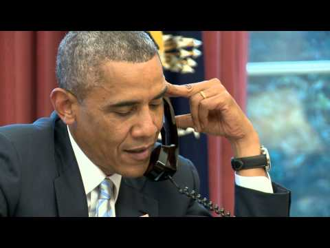 Raw Video: President Obama Calls Clint Dempsey & Tim Howard