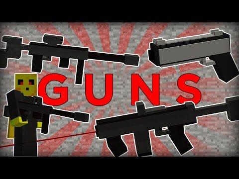 Working GUNS in one command block! [ Minecraft 1.11 ]