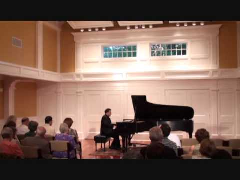 Max Levinson, pianist, plays Chopin Ballade #1 in G minor